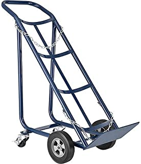 Tilt Back Cylinder Hand Truck with Curved Handle, 800 Lb. Capacity, 47