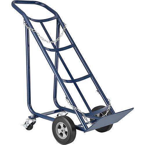 """Tilt Back Cylinder Hand Truck with Curved Handle, 800 Lb. Capacity, 47""""H"""