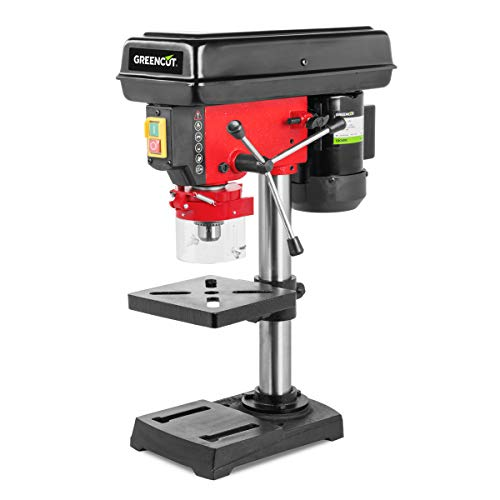 Greencut 1010050 TDC600C Perceuse Colonne 600 W Puissance 5 Vitesses 50 mm Perforation, Rouge