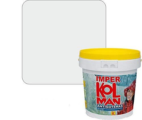 Revestimiento impermeabilizante alta calidad Imper Kolman. Caucho elástico antigoteras. (4 litros, transparente)