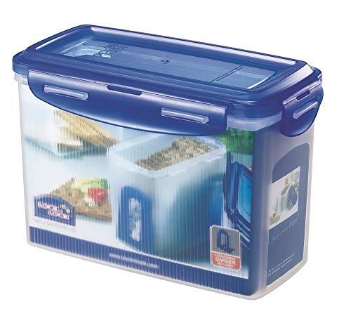 ZIP Premium Lock&Lock Knäckebrotdose | Knäckebrotbox | 1,5 L | mit blauem Deckel | 100% luftdicht