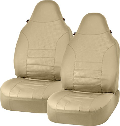 Bell Automotive 22-1-56754-9 Tan Sport Leather Universal Bucket Seat Covers, Pack of 2