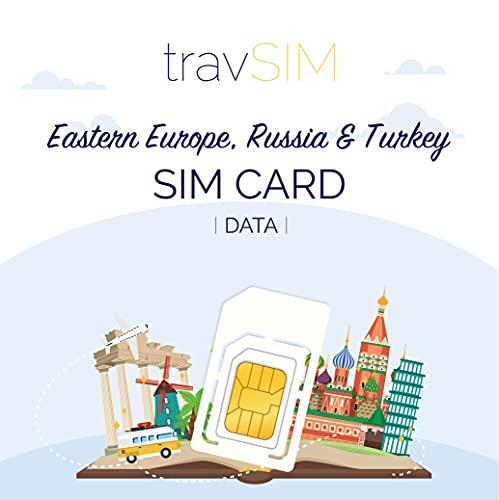 travSIM - Carta SIM Prepagata est europeo(SIM Dati per l est europeo) - 4GB di Dati Mobili da utilizzare in est europeo Valido per 30 Giorni - la Carta SIM Funziona in oltre 10 Paesi