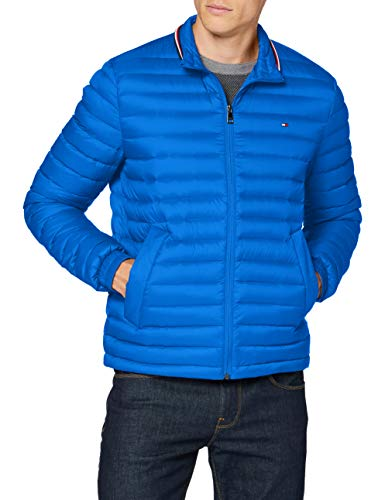 Tommy Hilfiger Herren Packable Down Jacket Jacke, TH Electric Blue 000039, M