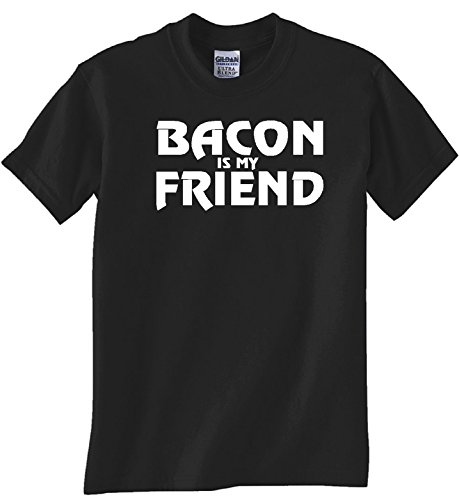 'BACON IS MY FRIEND' BLACK T SHIRT (5XL)
