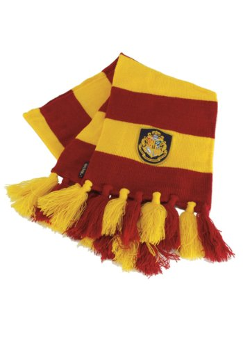 Warner Brothers Harry Potter Hogwart Gryffindor House Knit Scarf for Adults and Kids Red