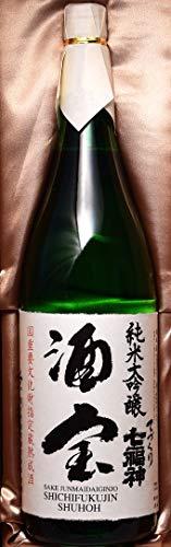 東北岩手盛岡の地酒、純米大吟醸酒宝七福神1.8L(一升)瓶化粧箱入・包装