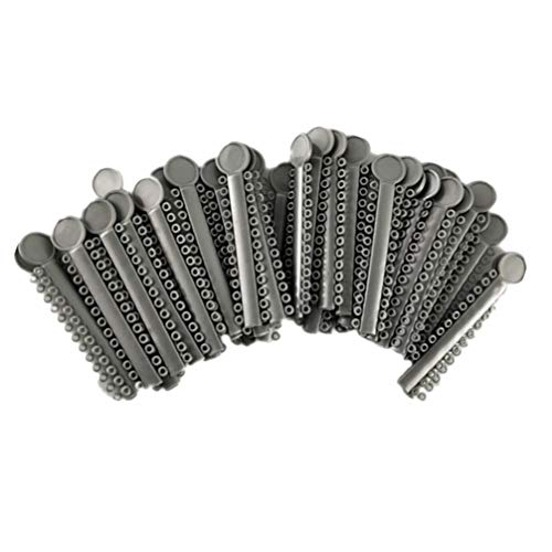 Artibetter 40 piezas de ligaduras de ligadura de ortodoncia ligaduras de ligadura dental abrazaderas de gomas elastoméricas o anillos