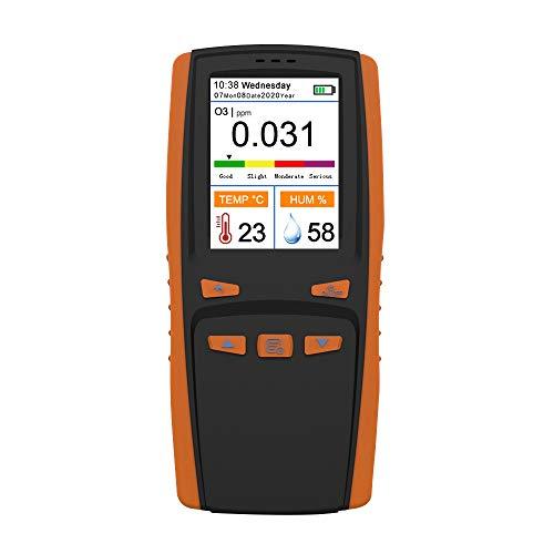 Medidor de Ozono - Entweg Analizador de ozono portátil Medidor de ozono O3 multifuncional Detector de aire Sensor inteligente Medidor de ozono Monitor de contaminación de calidad del aire