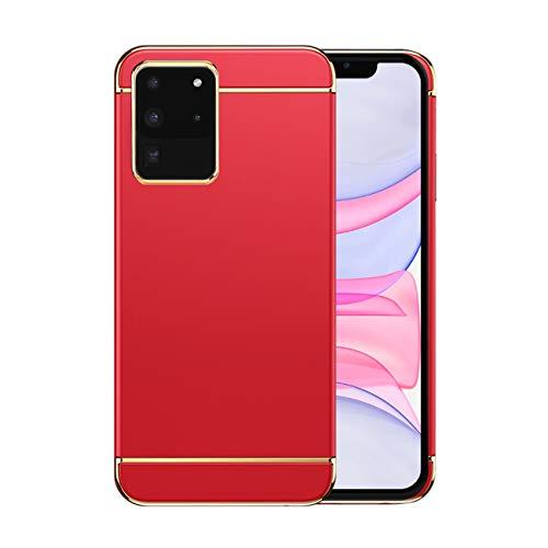 Funda Samsung S20 Ultra 5g Case,Fundas Samsung Galaxy S20 Ultra Antigolpes Carcasa Diseño Minimalista Estuche Rígido Ultra Original Delgado de PC a Prueba (Samsung S20 Ultra, Rojo)