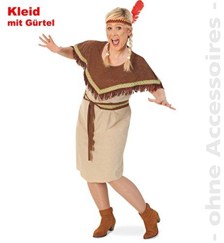 Party-Chic 13861 dames kostuum indianes Sikari-jurk met riem maat 46