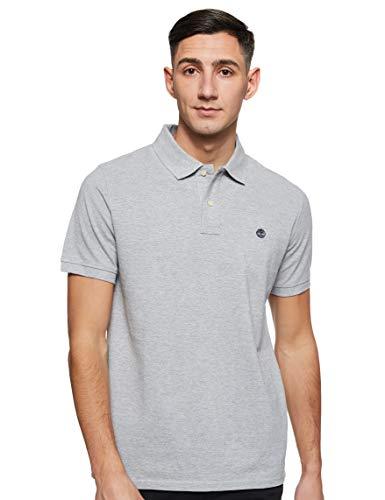 Timberland Herren Marken-Poloshirt, Grau, S