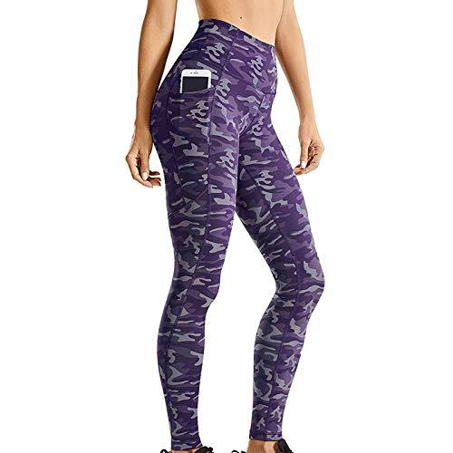 Soolike Mallas De Deporte De Mujer, Leggins Pantalon Deporte Yoga, Leggings Mujer Fitness Suaves Elásticos Cintura Alta para Reducir Vientre ,Leggings Deportivos De Color Puro Que Levantan La Cadera