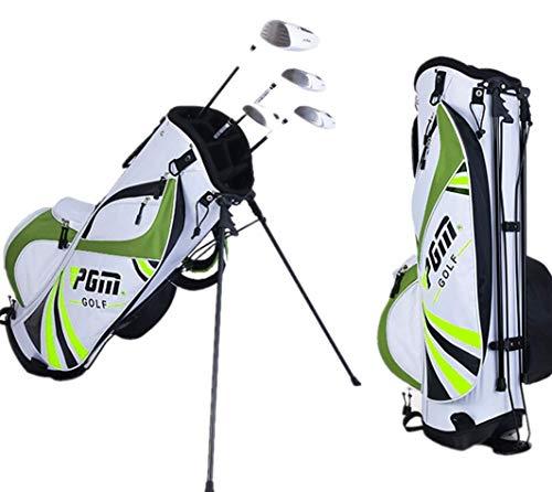 Mhwlai Multifunktionale Golftasche für Herren und Damen mit ultraleichter, tragbarer Stand-Up-Tasche (DREI Farben optional),Green