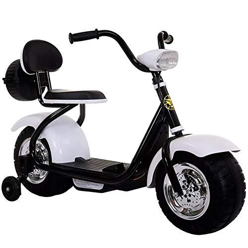 Delili Elektrisches Kinderfahrzeug, Elektromotorrad, Bestes Motorradspielzeuggeschenk Für Kleinkinder Ab 3 Jahren,Weiß