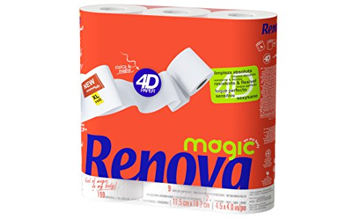 Renova Papel Higiénico Magic - 7 paquetes de 9 rollos- Total 63...