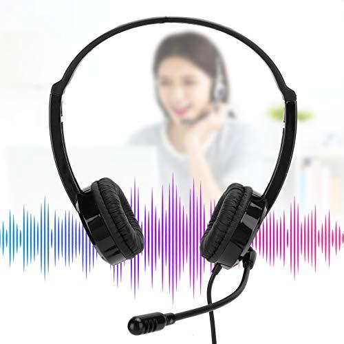 Auriculares para Juegos Auriculares cómodos con reducción de Ruido Auriculares para Juegos Alta sensibilidad para Deportes para Reproductores de MP3 para Oficina para teléfonos Inteligentes(Black)