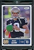 2007 SAGE HIT Brady Quinn #10 Notre Dame - Cleveland Browns - RC - Rookie Football Card. rookie card picture