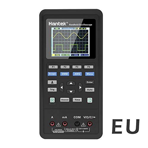 HEIRAO 2 en 1 Osciloscopio Digital + multímetro, 2 Canales, 40 MHz, Pantalla LCD, osciloscopio y multímetro, USB portátil