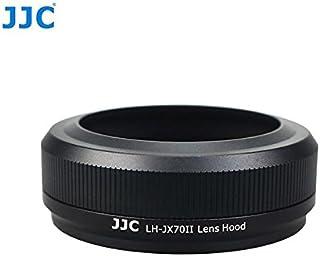 JJC LH JX70II Schwarz Gegenlichtblende (Sonnenblende, Streulichtblende) inkl. Adapterring für Fujifilm FinePix X70   ersetzt LH X70   Für Original Fuji Objektivdeckel