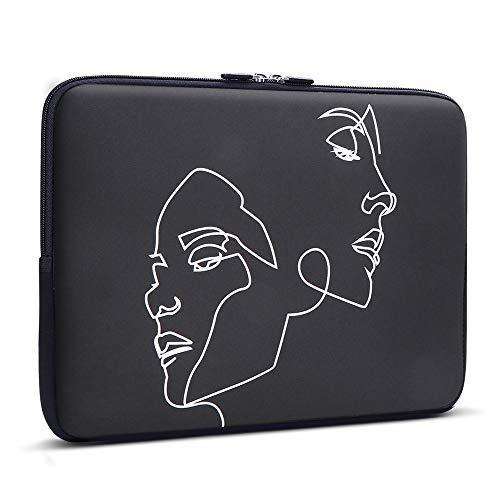 iCasso 13-13.3 inch Laptop Sleeve Bag, Waterproof Shock Resistant Neoprene Notebook Protective Bag Carrying Case Compatible MacBook Pro/MacBook Air - Face