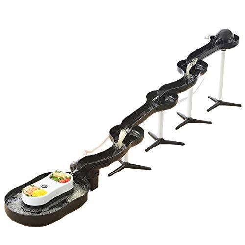 パール金属 そうめん流し器 ブラック 流麺 スライダー 電動ポンプで水を自動汲み上げ D-1405