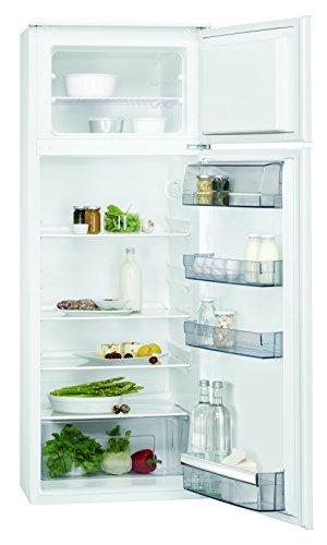 AEG SDB51421AS Einbau Kühl-Gefrier-Kombination mit Gefrierteil oben / 180L Kühlschrank / 38L Gefrierschrank / sparsamer Einbaukühlschrank / Glasablagen / A++ (196 kWh/Jahr) / Einbau-Höhe: 144,6 cm