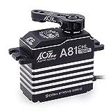 AGFRC 50KG Digital Steering-Servo High-Torque - Programmable Full Metal Gear Coreless Servo for 1/8 1/10 RC Car Boat Crawler, Control Angle 180°(A81CHL)