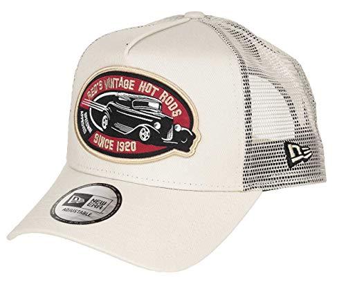New Era Hot Rod Cap Auto Trucker Verstellbar Kappe Basecap Beige - One-Size