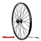 CHP Bicicleta Ruedas Delanteras for 26' Bicicleta de montaña de Doble Pared de Llantas de Aluminio de liberación rápida del Freno de Disco 951g 32 Agujero (Color : Black)