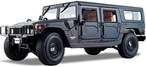 FTFTO Living Equipment Auto Modell Modell Auto 1:18 Kompatibel mit Hummer Geländewagen Sportwagen Legierung Simulation Auto Modell Sammlung Ornamente Kinderspielzeug Auto Geschenke Urlaub