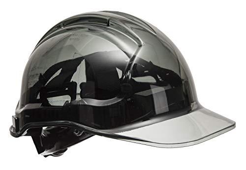 Portwest PV64SKR Series PV64 Peak View Ratsche Translucent Hard Hat Helm, Regular, Smoke