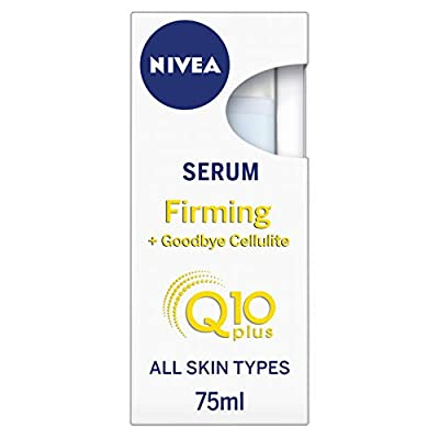 Nivea Q10 Body Cellulite Serum (75 ml), Powerful Anti Cellulite Serum with Q10, Firming Body Lotion Serum with Concentrated L-Carnitine