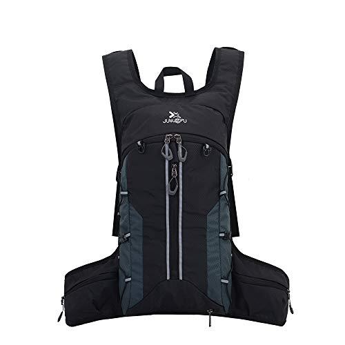 Ankuly サイクリングリュック 軽量 防水 豊かなポケット バックパック リュック アウトドア ジョギング スポーツバッグ 反射ストラップ付 ランニングバッグ 大容量 通気 快適 自転車バッグ(ブラック)