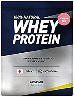 エクスプロージョン ホエイプロテイン 3kg 約100食分 ピーチ味 大容量 国内製造