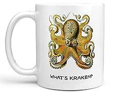 gifts for octopus lovers ~ kraken mug