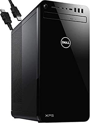 Flagship 2020 Dell XPS 8930 Business Desktop PC 10th Gen Intel Octa-Core i7-9700 (Beats i9-7980XE) 32GB DDR4 1TB SSD 1TB HDD Wave MAXX Audio Pro WiFi Bluetooth USB-C Win 10 + iCarp HDMI Cable