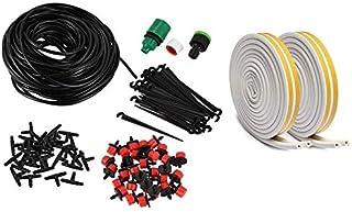 Watering Kits - 1 Set 25M Drip Irrigation System Automatic Watering Kits with Drippers & 2Pcs 5M D Foam Sealing Strip Spon...