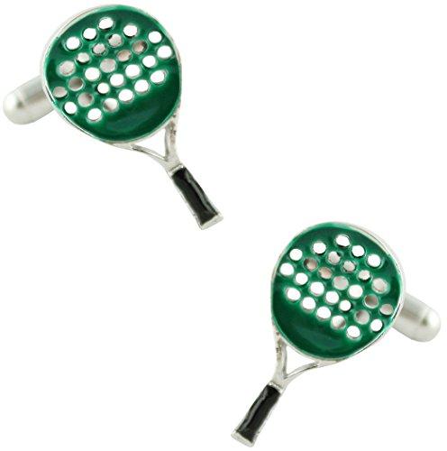 MasGemelos - Gemelos Raqueta de Padel Verde Cufflinks