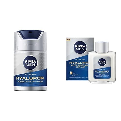 NIVEA MEN Hyaluron Crema Hidratante Antiedad FP15 + NIVEA MEN Hyaluron Bálsamo After Shave