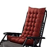 Marbeine - Cojín de Asiento para sillas, sillones o tumbonas de jardín, terraza Gruesa para Exterior, Funda de 125 x 48 x 8 cm, café