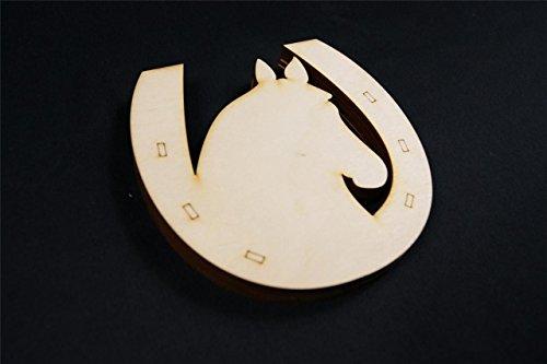 WoMa Kreativ Shop / deutschlandweit einziger Anbieter diesen Hersteller 10x Naturholz Hufeisen Pferd Glueck zum Aufhaengen Basteln Bemalen Dekoration hp