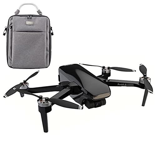 LYCH Dron con cámara 4K HD, CFLY Faith 2 5G WIFI RC Mini Drone con 3 ejes Gimbal RC Cuadricóptero teledirigido principiante 5KM Foto Live Video Transmisión Plegable GPS Drone con Bolsa Portátil