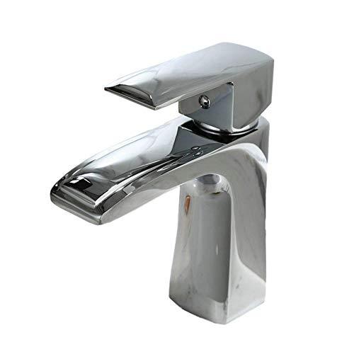 Baño grifo de lavabo de 7 pulgadas sola manija Un agujero de montaje en la cubierta de inodoro Toque de Lavabo, cromo