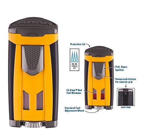 Lifestyle-Ambiente Xikar HP3 Feuerzeug Triple Jet-Flame Cohiba Stil inkl Tastingbogen
