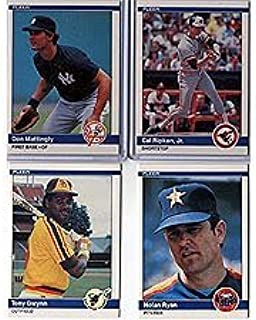 1984 Fleer Baseball Complete Mint Hand Collated 660 Card Set, It Was Never Issued in Factory Form. Includes the Rookie Cards of Don Mattingly, Darry Strawberry, Andy Van Slyke and Others! Loaded with Stars and Hall of Famers Including Nolan Ryan, Cal Ripken, Tony Gwynn, Robin Yount, George Brett, Ryne Sandberg + More!!
