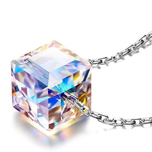 Alex Perry Regalo mujer collares cadena de plata mujer cristal swarovski joyas para mujer regalos mujer collares para boda niñas novia regalo para mujer
