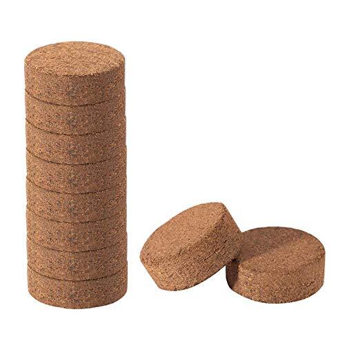 æ— Kokosfaser-Bodenscheiben, komprimierte Kokosfaser-Wachstumsmedien, erweiterbare Biofaser-Erde für den Garten, für Pflanzentopf, Kräuter, Blumen, Gemüse, 50 Stück