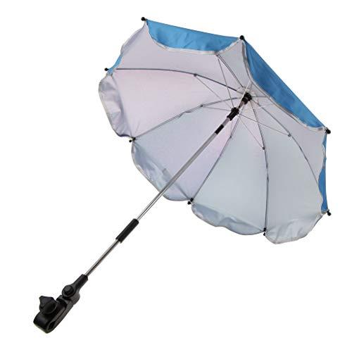 D DOLITY Kinder Baby Sonnenschirm Regenschirm Schirm Für Kinderwagen Buggy - Blau, 65 cm
