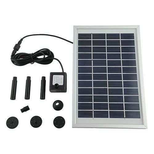 Mvpower 500L/H 5W Bomba de Agua Solar para Piscina Jardín Estanque Cuadrado